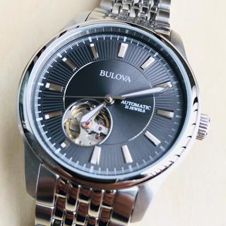 ブローバ(Bulova)の◆海外限定◆新品◆BULOVA◆ブローバ◆グレー 自動巻 メンズ腕時計(腕時計(アナログ))