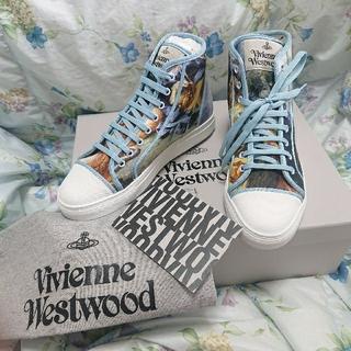 ヴィヴィアンウエストウッド(Vivienne Westwood)のヴィヴィアン ウエストウッド 新品 レア オーブ ブーシェ 絵画 スニーカー(スニーカー)