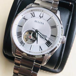 ブローバ(Bulova)の◆海外限定◆新品◆BULOVA◆ブローバ◆シルバー 自動巻 メンズ腕時計(腕時計(アナログ))