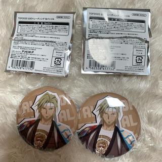 【【新品】【送料無料】 テイルズ オブ フェスティバル アイゼン 缶バッジ 2個(キャラクターグッズ)