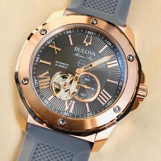 ブローバ(Bulova)の◆新品◆BULOVA◆ブローバ マリンスター◆グレー 自動巻  メンズ腕時計(腕時計(アナログ))