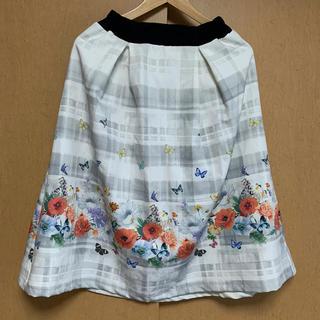 スカラー(ScoLar)の新品 未使用 イズスカラー isScoLar 花柄スカート Mサイズ(ロングスカート)