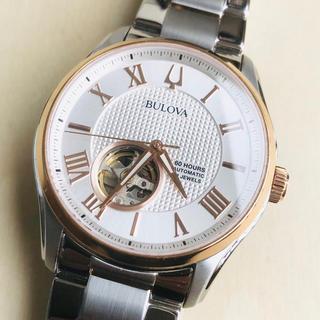 ブローバ(Bulova)の◆海外限定◆新品◆BULOVA◆ローズゴールド自動巻オープンハート メンズ腕時計(腕時計(アナログ))