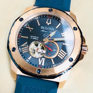 ブローバ(Bulova)の◆新品◆BULOVA◆ブローバ マリンスター◆ブルー 自動巻  メンズ腕時計(腕時計(アナログ))