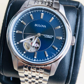 ブローバ(Bulova)の◆海外限定◆新品◆BULOVA◆ブローバ◆ブルー 自動巻 メンズ腕時計(腕時計(アナログ))