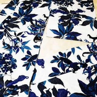 フリフ(ふりふ)の新品 定価¥41800 撫松庵 しつけ糸付き セオアルファ 浴衣 影草花(浴衣)