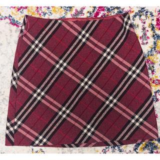 BURBERRY BLUE LABEL - BURBERRY バーバリー ミニスカート 赤チェック柄 美品