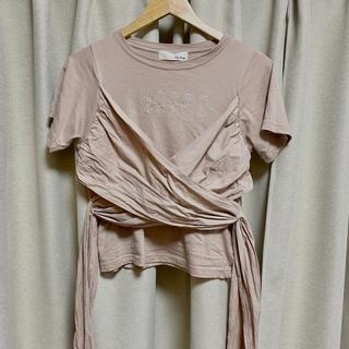 リリーブラウン(Lily Brown)のlilybrown ディテールTシャツ(Tシャツ(半袖/袖なし))