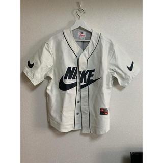 シュプリーム(Supreme)のNIKE supreme baseball shirts S レザー(シャツ)