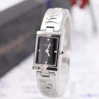 サンローラン(Saint Laurent)の正規品【新品電池】YvesSaintLaurent/5421 バングル ロゴ(腕時計)