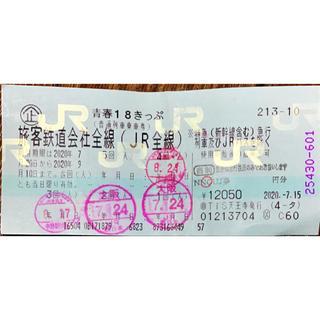 ジェイアール(JR)の青春18切符(残り1回)(鉄道乗車券)