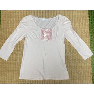 リズリサ(LIZ LISA)のリズリサ・ベビーピンク・Tシャツ・Fサイズ(シャツ/ブラウス(長袖/七分))