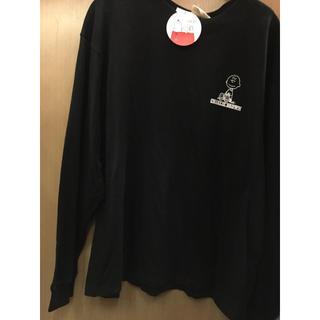 ピーナッツ(PEANUTS)の新品 黒 チャーリーブラウン ロンT スヌーピー SNOOPY 長袖Tシャツ(Tシャツ/カットソー(七分/長袖))