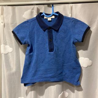 バーバリー(BURBERRY)のBURBERRY ポロシャツ 水色 ブルー 80 半袖シャツ 兵隊 12m(Tシャツ)
