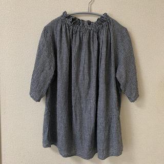ネストローブ(nest Robe)のネストローブ  先染めリネンフリルカラーブラウス(シャツ/ブラウス(半袖/袖なし))