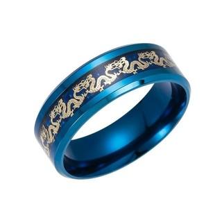ブルー ドラゴン リング 指輪 アクセサリー(リング(指輪))
