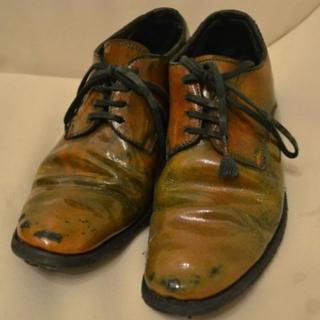 キャロルクリスチャンポエル(Carol Christian Poell)のキャロルクリスチャンポエル シリコンラマレザー 短靴 ダービーシューズ 7(ドレス/ビジネス)