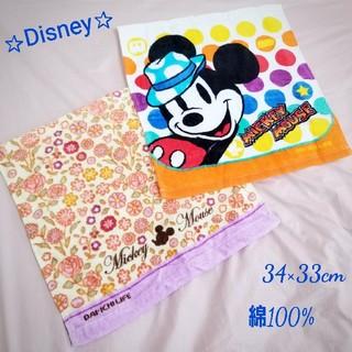 ミッキーマウス(ミッキーマウス)のDisney  ミッキーマウス タオル★ 2枚セット★(タオル/バス用品)