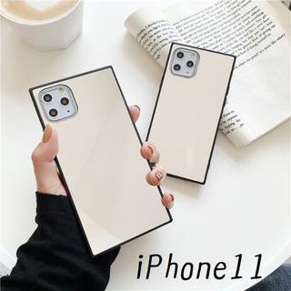 SALE!iPhone11 スクエア型 ケース カバー ミラー(iPhoneケース)