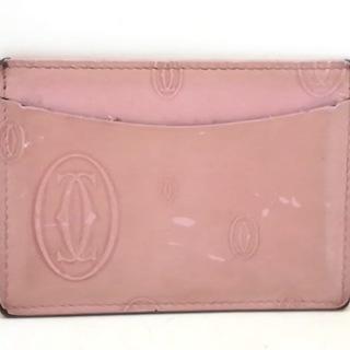 カルティエ(Cartier)のカルティエ カードケース ピンク レザー(名刺入れ/定期入れ)