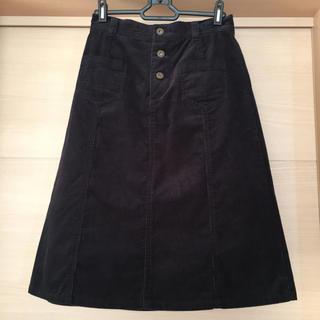 ドゥファミリー(DO!FAMILY)のドゥファミリィ コーデュロイスカート ダークネイビー(ひざ丈スカート)