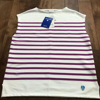 オーシバル(ORCIVAL)の新品 未使用 オーシバル フレンチスリーブ Tシャツ ボーダー(Tシャツ(半袖/袖なし))