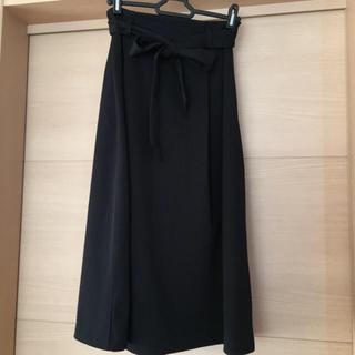ドゥファミリー(DO!FAMILY)のドゥファミリィ ツイルニットポンチタックスカート ブラック(ひざ丈スカート)