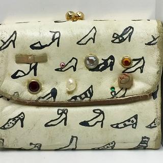 ツモリチサト(TSUMORI CHISATO)のツモリチサト Wホック財布 アイボリー×黒(財布)