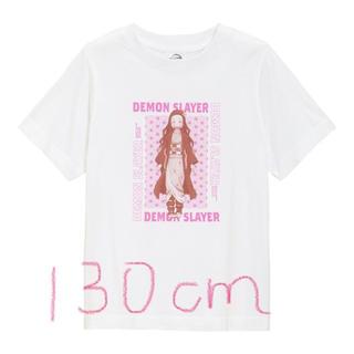 GU 鬼滅の刃 竈門禰豆子 Tシャツ 130cm(Tシャツ/カットソー)