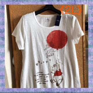 ディズニー(Disney)の【プーさん】ふうせんに乗って❣️レディースTシャツ《2L》(Tシャツ(半袖/袖なし))