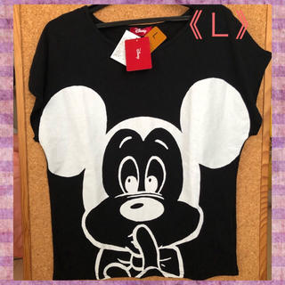 ディズニー(Disney)の【ディズニー】大きなミッキーでインパクト‼️半袖Tシャツ《L》SDN-5B(Tシャツ(半袖/袖なし))