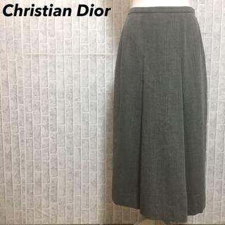 クリスチャンディオール(Christian Dior)のクリスチャンディオール ロングスカート プリーツ タック サイズ9 M(ロングスカート)