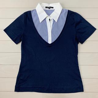 ニジュウサンク(23区)の23区 重ね着風カットソー(カットソー(半袖/袖なし))
