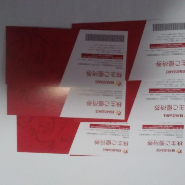 ルネサンス株主優待券(6枚) チケットの施設利用券(フィットネスクラブ)の商品写真
