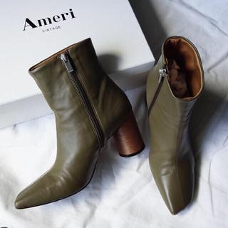 アメリヴィンテージ(Ameri VINTAGE)のAmeri VINTAGE WOOD CIRCLE HEEL BOOTS 【M】(ブーツ)