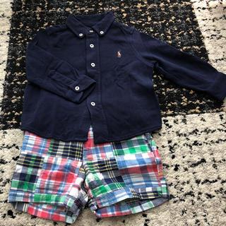 ポロラルフローレン(POLO RALPH LAUREN)のラルフローレン  ポロシャツ 半ズボン 80サイズ(シャツ/カットソー)