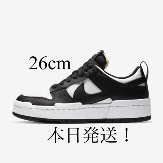 NIKE(ナイキ)のNike Dunk Low Disrupt Black White 26cm メンズの靴/シューズ(スニーカー)の商品写真