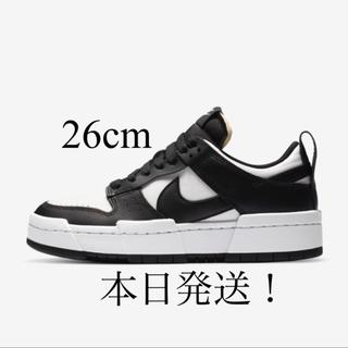 ナイキ(NIKE)のNike Dunk Low Disrupt Black White 26cm(スニーカー)
