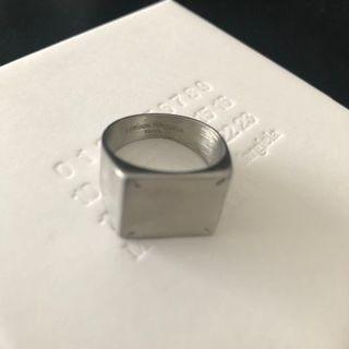 20SS新品S メゾン マルジェラ 4ステッチ リング シルバー 指輪 メンズ(リング(指輪))