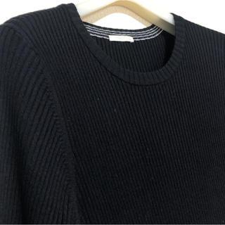 ジーユー(GU)の美品 GU リブニット 半袖ニット(ニット/セーター)