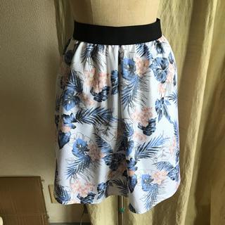 ページボーイ(PAGEBOY)のused alicia pageboy ボタニカル柄スカート(ひざ丈スカート)
