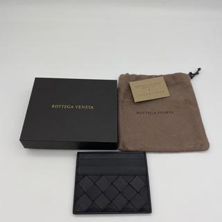 ボッテガヴェネタ(Bottega Veneta)のボッテガ 新品 カードケース 即配送 販売終了モデル ブラック ビジネス(名刺入れ/定期入れ)