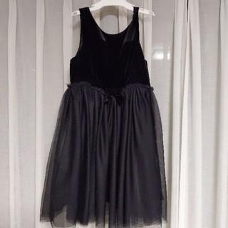 エイチアンドエム(H&M)の130 ブラックドレス👗ワンピース(ドレス/フォーマル)