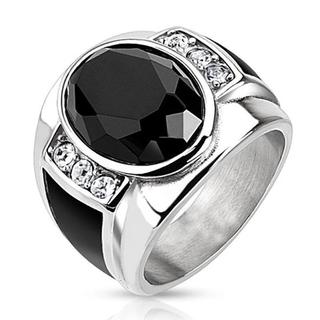 メンズリング ブラック シルバー ヴィンテージ風(リング(指輪))