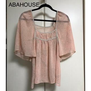 アバハウス(ABAHOUSE)の最終価格 ABAHOUSE / 総柄 ブラウス アバハウス(シャツ/ブラウス(半袖/袖なし))