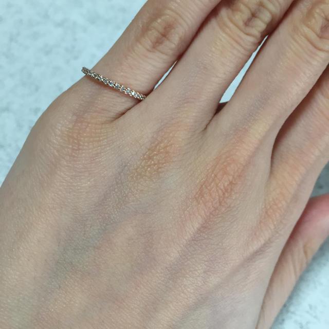 4℃(ヨンドシー)の4℃ 10K ピンキーリング美品 レディースのアクセサリー(リング(指輪))の商品写真