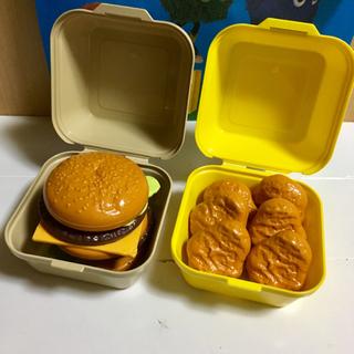 マクドナルド(マクドナルド)のレア商品 ハンバーガーケース・ナゲットケースセット(ノベルティグッズ)