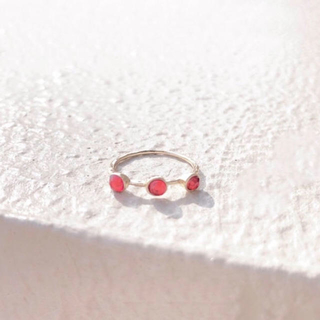 red moon ring* ハーフエタニティレッドムーンリング2(その他)