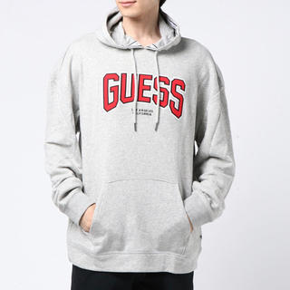 ゲス(GUESS)の新品 Safari掲載商品レア 完売 GUESS ゲス パーカー グレー M(パーカー)