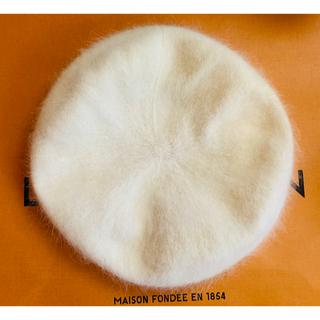 リズリサ(LIZ LISA)の未使用 ♡モテ♡ベレー帽 白 リズリサ(ハンチング/ベレー帽)